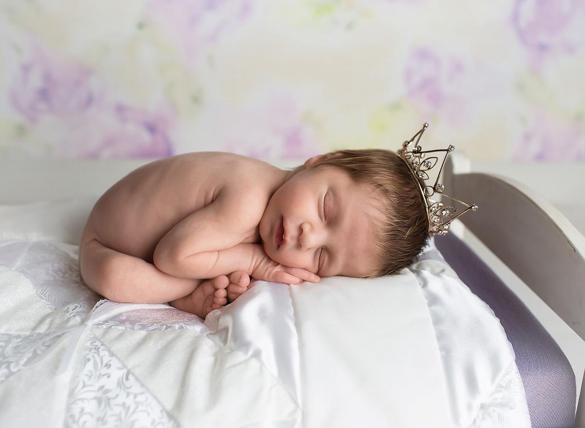 princess newborn photos