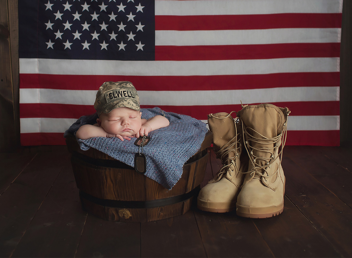 army newborn photography